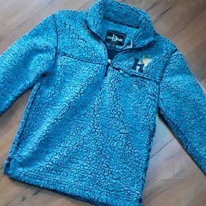 Fuzzy blue boxer craft sweatshirt